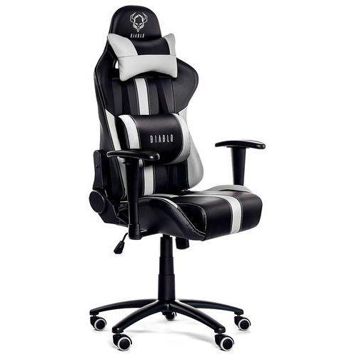 Fotel DIABLO CHAIRS X-Player Czarno-biały + Zamów z DOSTAWĄ JUTRO! + DARMOWY TRANSPORT!