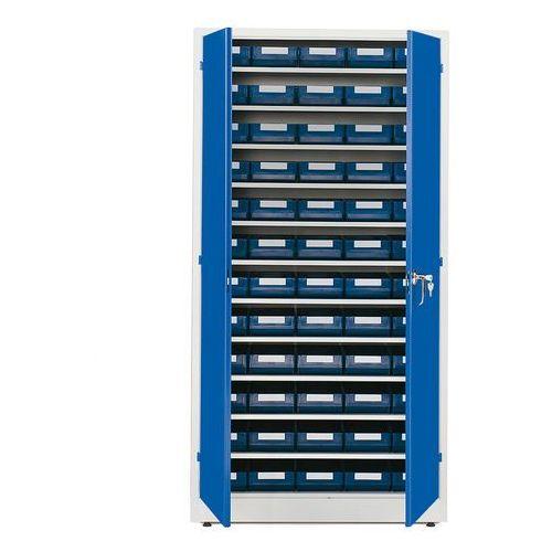 Szafa warsztatowa z pojemnikami, 60 pojemników, 1900x1000x400 mm