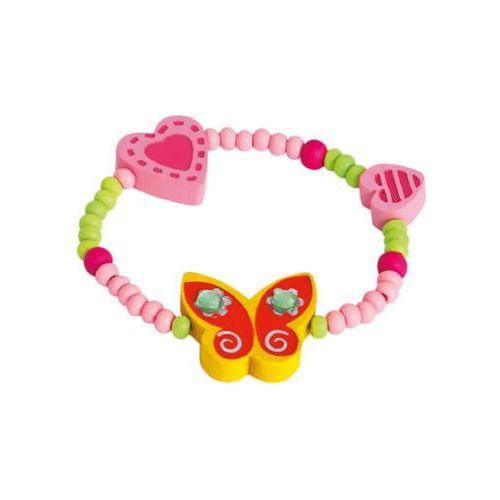 bransoletka z motylkiem, kolor źółty, marki Bino