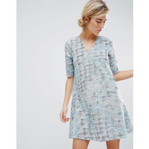 dress in tapestry weave fabric - blue marki See u soon
