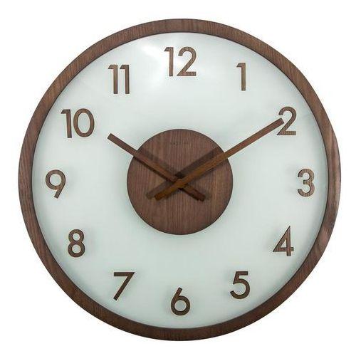 Zegar ścienny frosted wood brązowy marki Nextime
