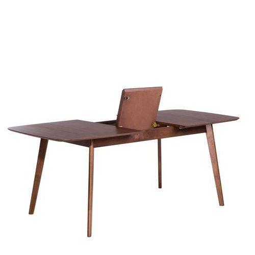 Stół brązowy - rozkładany - 150-190x90 cm - kuchenny - do jadalni - MADOX (7081459497712)