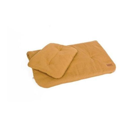 Pościel bawełniana organic - kolor musztarda/miód - (wymiary: kołdra 60x70 cm, poduszka: 25x30 cm) - marki Poofi