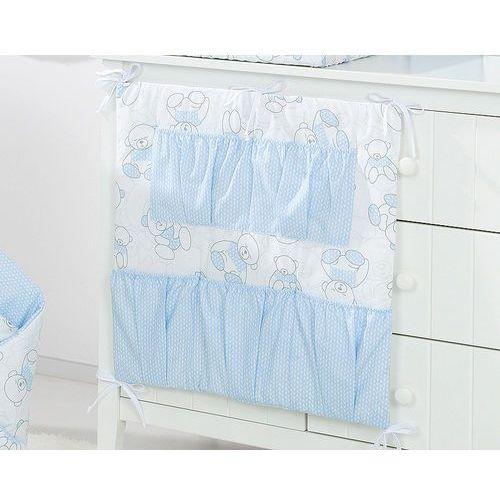 przybornik organizer 5k na łóżeczko misie niebieskie / jodełka niebieska marki Mamo-tato