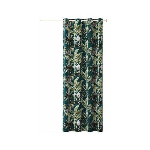 Action Zasłona w liście harmony amazon zielona 140 x 250 cm na przelotkach (5902963479143)