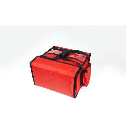 Furmis Torba wykonana z nylonu na 4 kartony do pizzy o wymiarach 400x400 mm, czerwona z czarną lamówką   , t4m