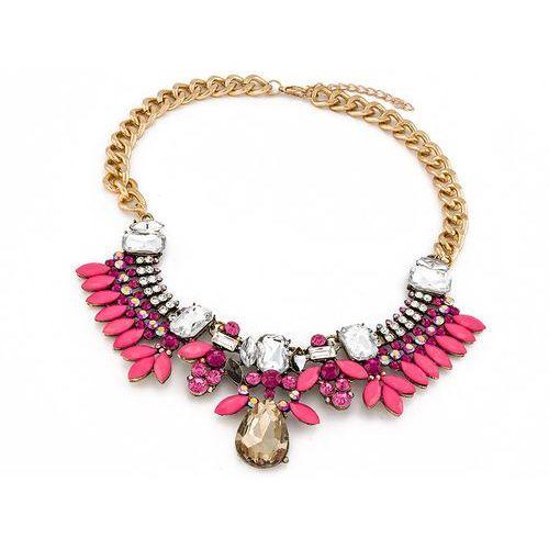 NASZYJNIK PINK DIAMOND - PINK, kolor różowy