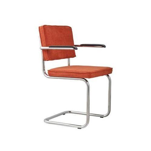 Zuiver fotel ridge rib pomarańczowy 19a 1006052