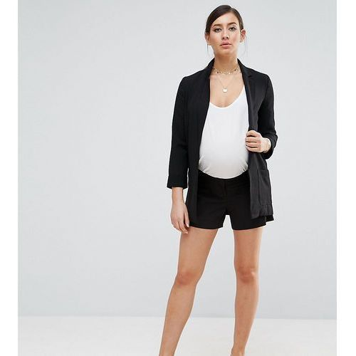 tailored short - black marki Asos maternity