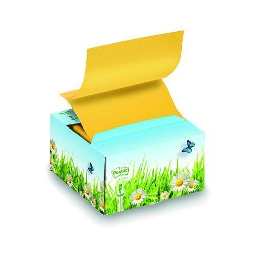 Podajnik ekologiczny kartonowy bloczków POST-IT® Z-notes (B330-1RG), 76x76mm, 200 kart., żółty