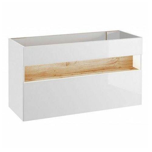 Szafka pod umywalkę monako 2x 120 cm - biały połysk marki Producent: elior