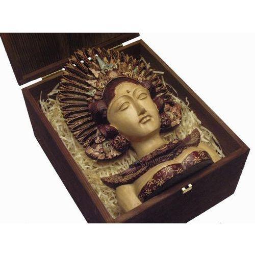 Dekoracyjny prezent rzeźba egzotyczna maska legendarnej bogini z wyspy bali marki Wyspa bali