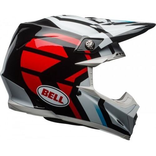 BELL MOTO-9 DISTRICT WHITE/BLACK/RED Kask Off-road