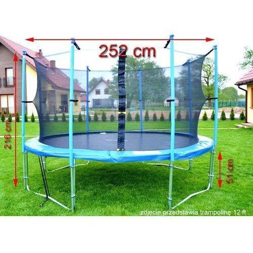 Trampolina ogrodowa z siatką o średnicy 252 cm 8 ft - 252 cm marki Top fitness