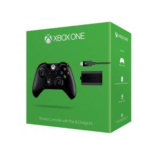 Kontroler bezprzewodowy + Zestaw Play & Charge MICROSOFT do Xbox One z kategorii Gamepady