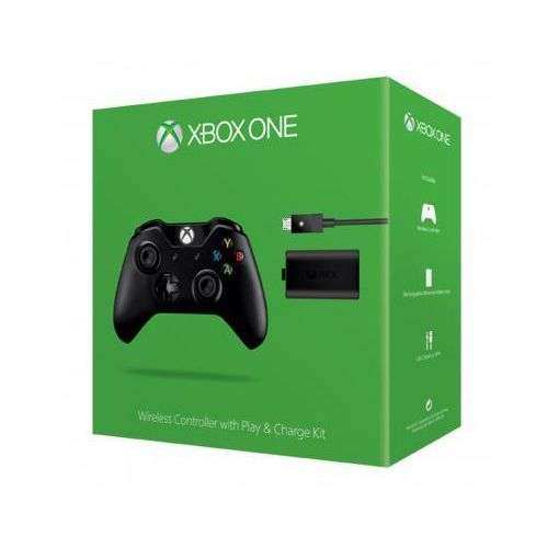 OKAZJA - Microsoft Kontroler bezprzewodowy + zestaw play & charge do xbox one