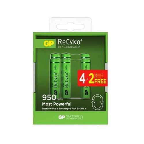 Gp Akumulatory recyko+ aaa 950mah 6szt. 100aaahcn-gb6 (4891199164477)