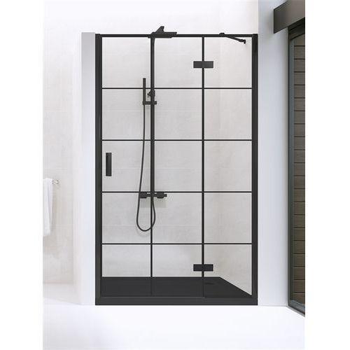 Drzwi prysznicowe 90 cm D-0272A New Renoma Black New Trendy DODATKOWY RABAT W SKLEPIE NA KABINĘ