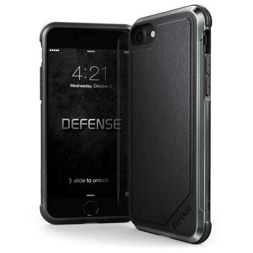 X-Doria Defense Lux - Aluminiowe etui iPhone 8 / 7 (Black Leather), 460569