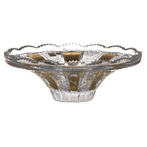 34761 półmisek 500k złoto, szkło kryształowe bezbarwne, średnica 255 mm marki Caesar crystal