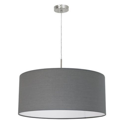 Lampa wisząca Eglo Pasteri 31577 z abażurem 1x60W E27 fi53 szara, 31577