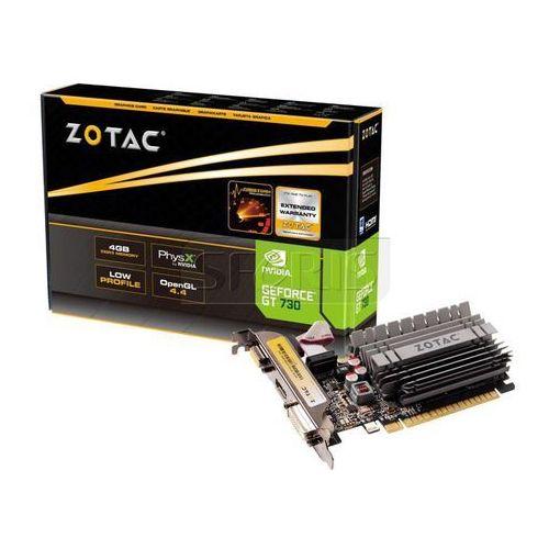 Karta graficzna Zotac GeForce® GT 730 Zone Edition Low Profile, 4GB DDR3 (64 Bit), HDMI, DVI, VGA - ZT-71115-20L z kategorii Karty graficzne