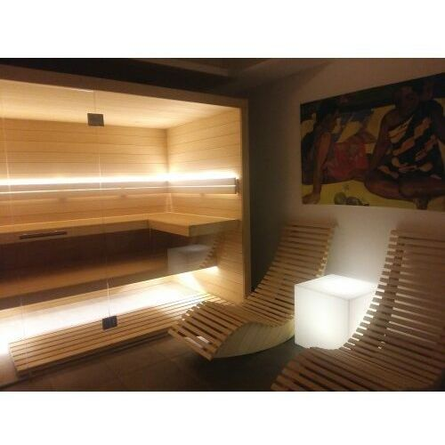 Podświetlany kubik Square Light stolik dekoracja LED, MOKSL