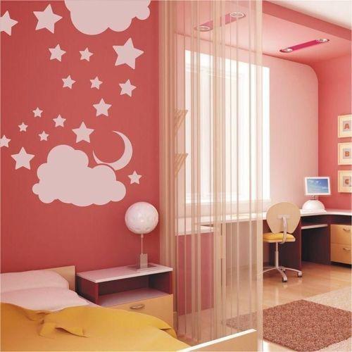 Wally - piękno dekoracji Naklejka welurowa chmurka gwiazdki 1380