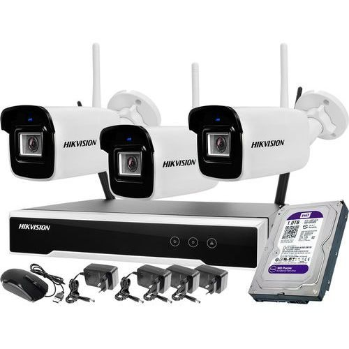 Hikvision Zestaw wifi bezprzewodowowy 3-kamerowy wifi 4mpx 1tb