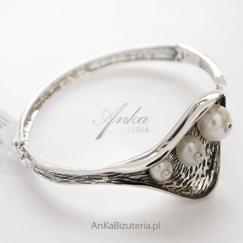 Anka biżuteria Srebrna bransoletka z perłami