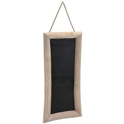 Home styling collection Tablica na notatki, czarna, 70x30 cm - drewno tekowe