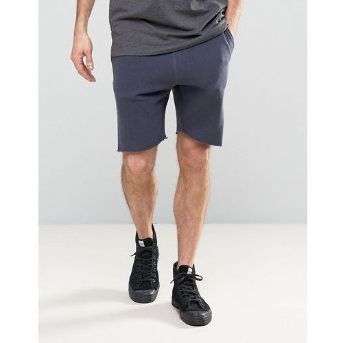 Selected Homme Jersey Shorts with Drawstring Waist and Raw Hem - Pink