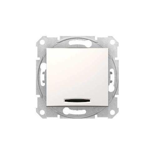 Schneider electric Sedna przycisk schodowy schneider podtynkowy pojedynczy z podświetleniem bez ramki kremowy sdn1520123 (8690495058215)