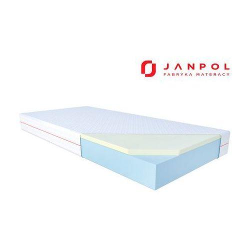Janpol julia – materac termoelastyczny, piankowy, rozmiar - 140x200, pokrowiec - spin wyprzedaż, wysyłka gratis