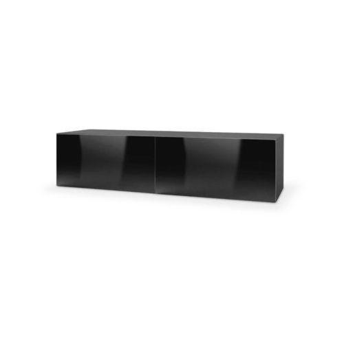 Style furniture Tres szafka wisząca rtv 160 czarna wysoki połysk