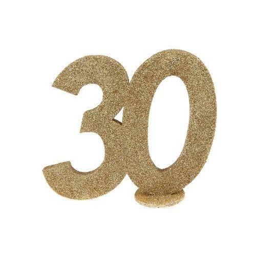 Dekoracja stołu trzydziestka złota 30-stka - 1 szt. marki Santex