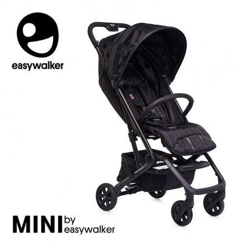 Easywalker Mini by buggy xs wózek spacerowy z osłonką przeciwdeszczową lxry black