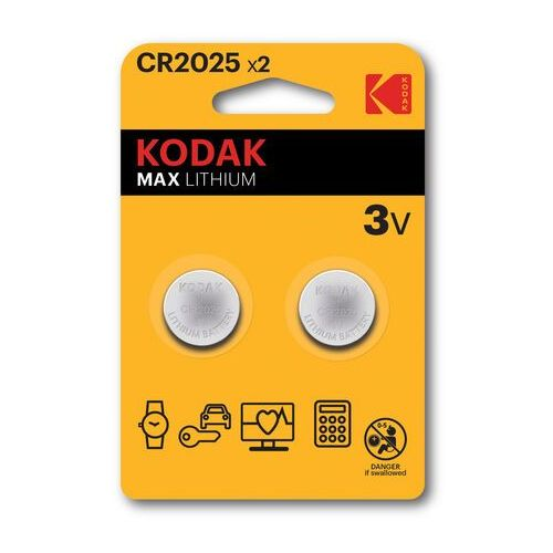 KODAK BATERIE LITOWE CR 2025 BLISTER X 2 SZT. - 30417670- Zamów do 16:00, wysyłka kurierem tego samego dnia!