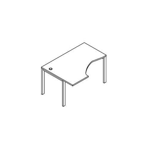 Svenbox Biurko kątowe bsa26 wymiary: 137x100(70)x75,8 cm