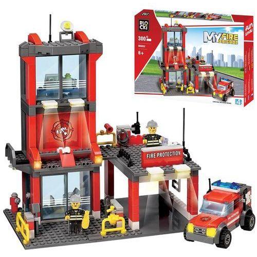 Klocki Blocki Straż pożarna Remiza mała 300 elementów
