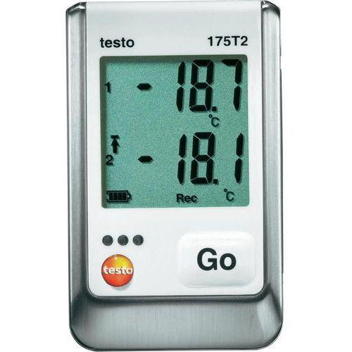 Rejestrator temperatury testo 175 T2 0572 1752 Kalibracja Fabryczna (bez certyfikatu), 175 T2