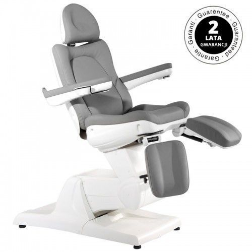 Fotel kosmetyczny elektr. azzurro 870s pedi 3 siln. szary marki Activeshop