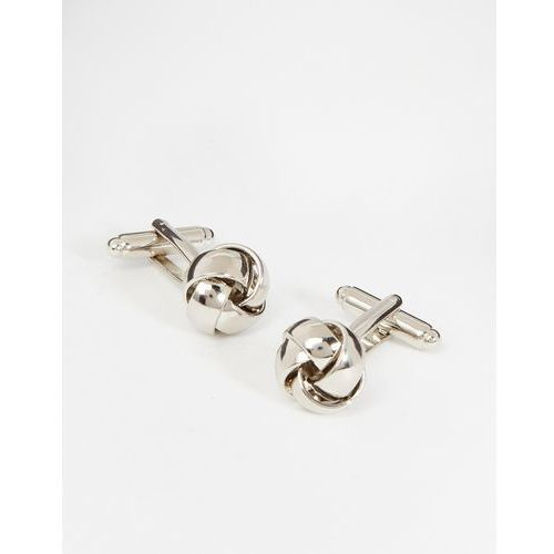 Simon Carter West End Knot Cufflinks - Silver, kolor szary