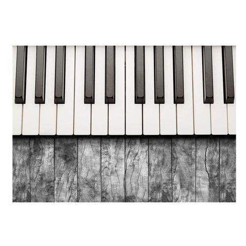 Artgeist Fototapeta - zainspirowane chopinem - szare drewno