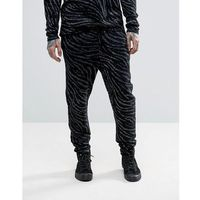 ASOS Knitted Trousers with Zebra Detail and Metallic Yarn - Black, kolor czarny