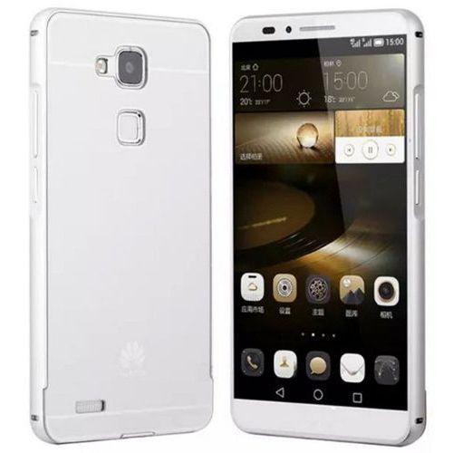 Obudowa Bumper Metal Huawei Honor 7 Srebrny - Srebrny