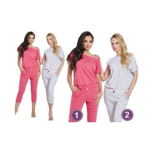 Piżama damska INKA: szary melanż, kolor szary