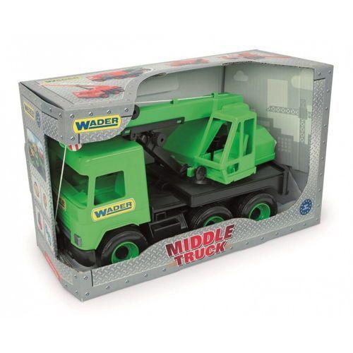 Middle Truck Dźwig zielony w kartonie, WAD-32102