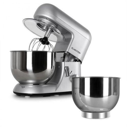 Klarstein Bella Argentea zestaw robot kuchenny + dodatkowa miska srebrny