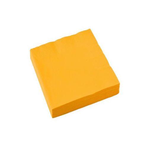 Serwetki ciemnożółte - 33 cm - 20 szt. (0013051271626)